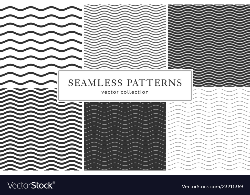 Waves geometric seamless patterns