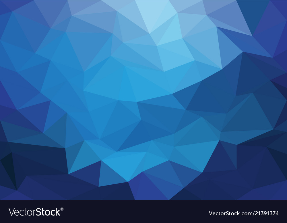 Abstract Blue Light Triangle Polygon Background