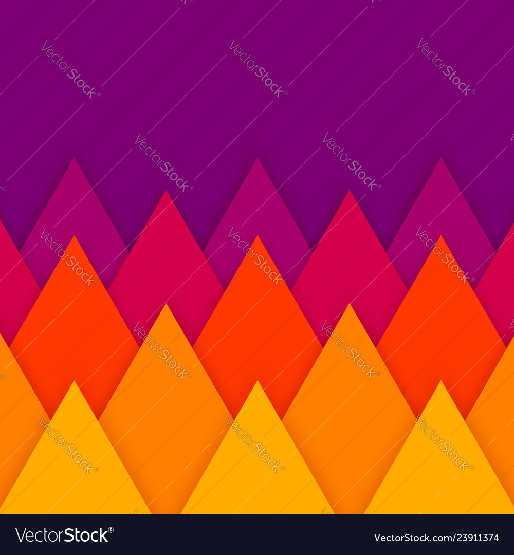 Abstract geometric paper cut background