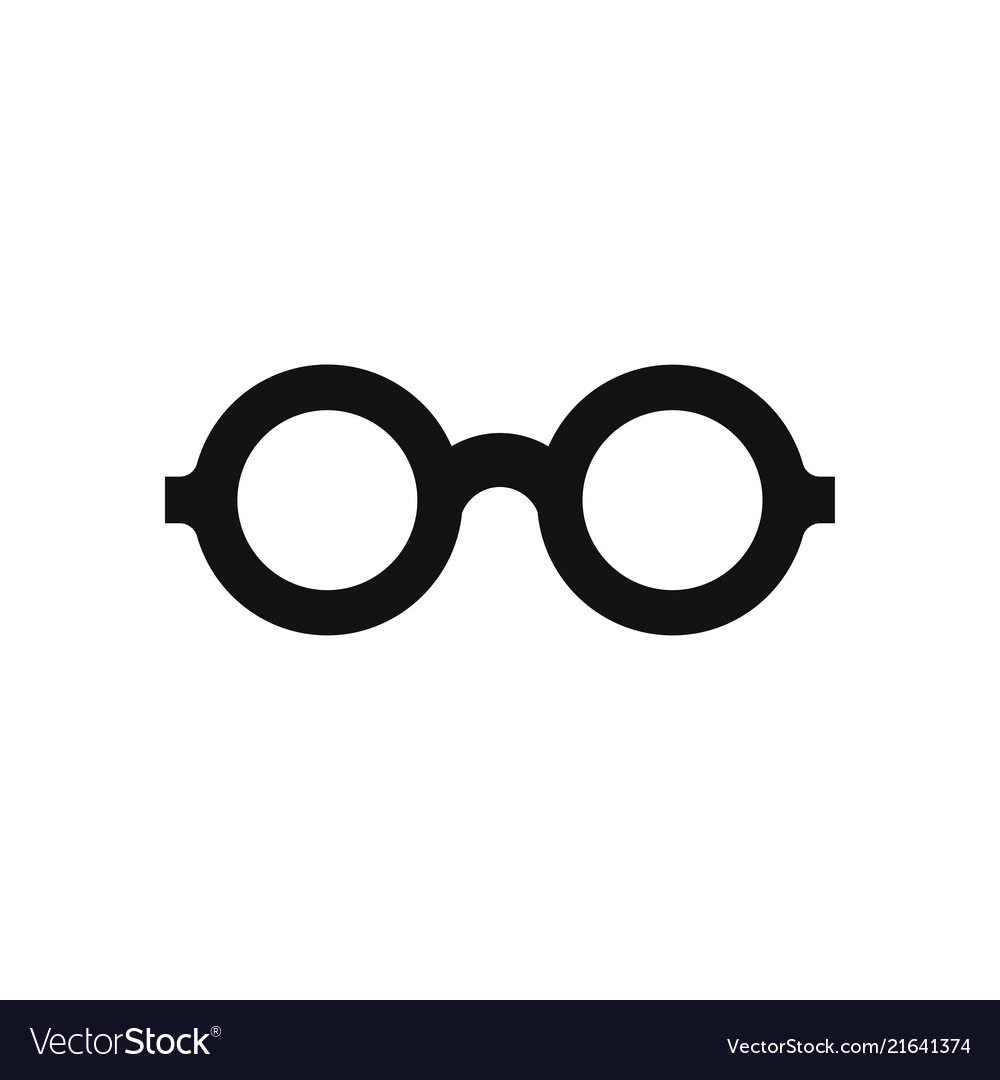 9ed9faa65bb2 Glasses icon isolated on white background modern Vector Image