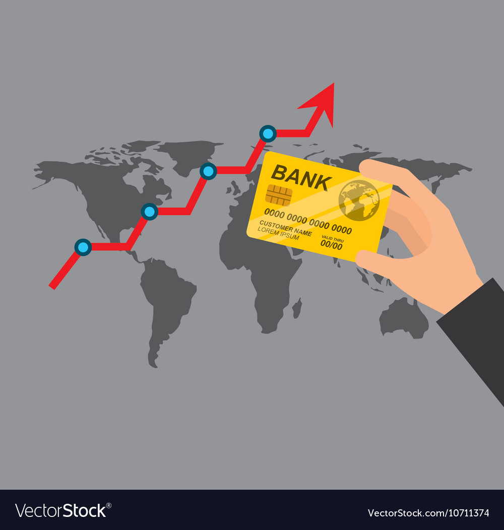 Global economy planet concept