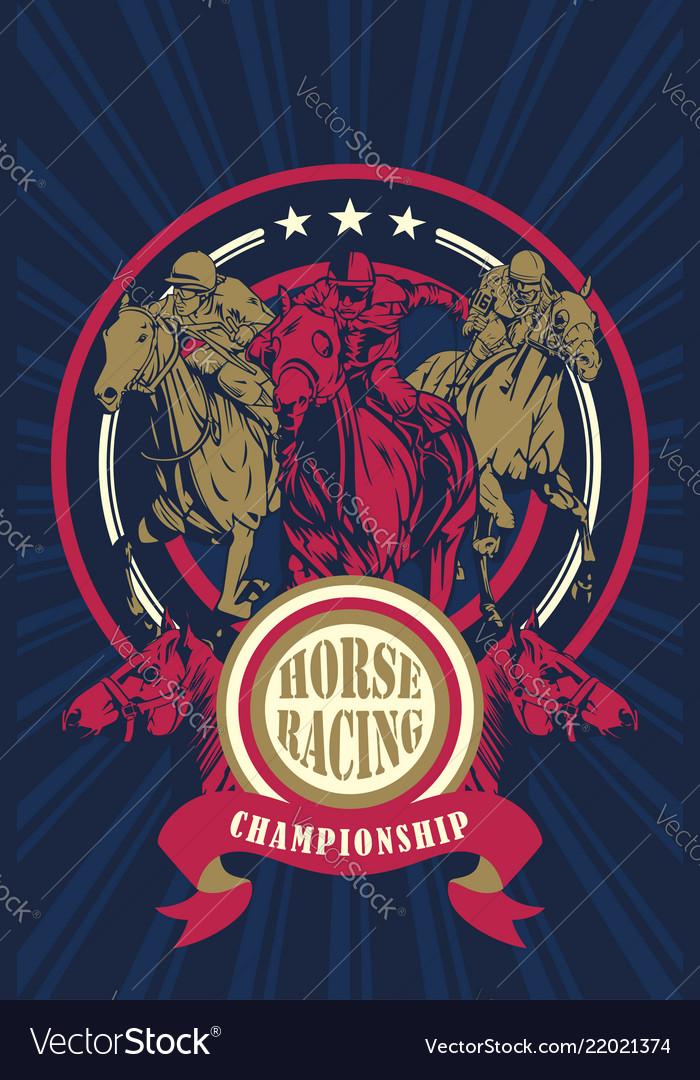 Horse racing championship poster