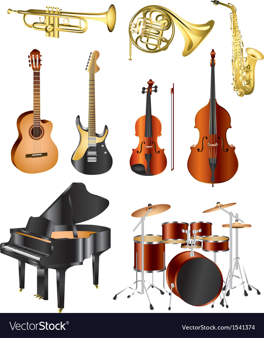 Icons music instruments