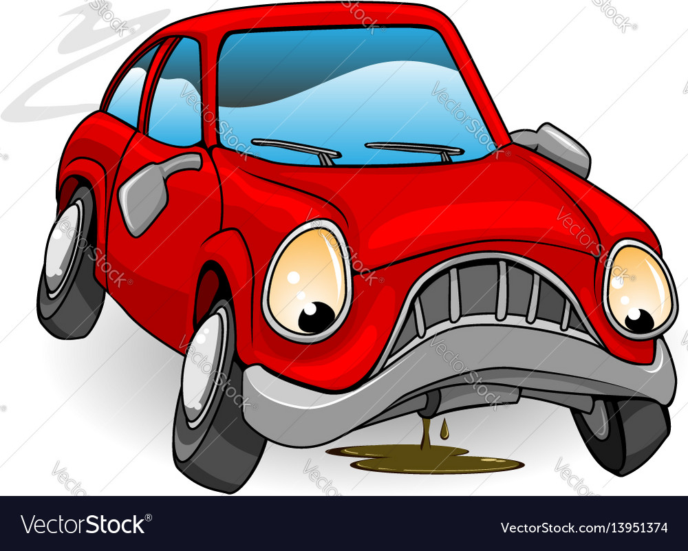 Car Broke Down >> Sad Broken Down Cartoon Car