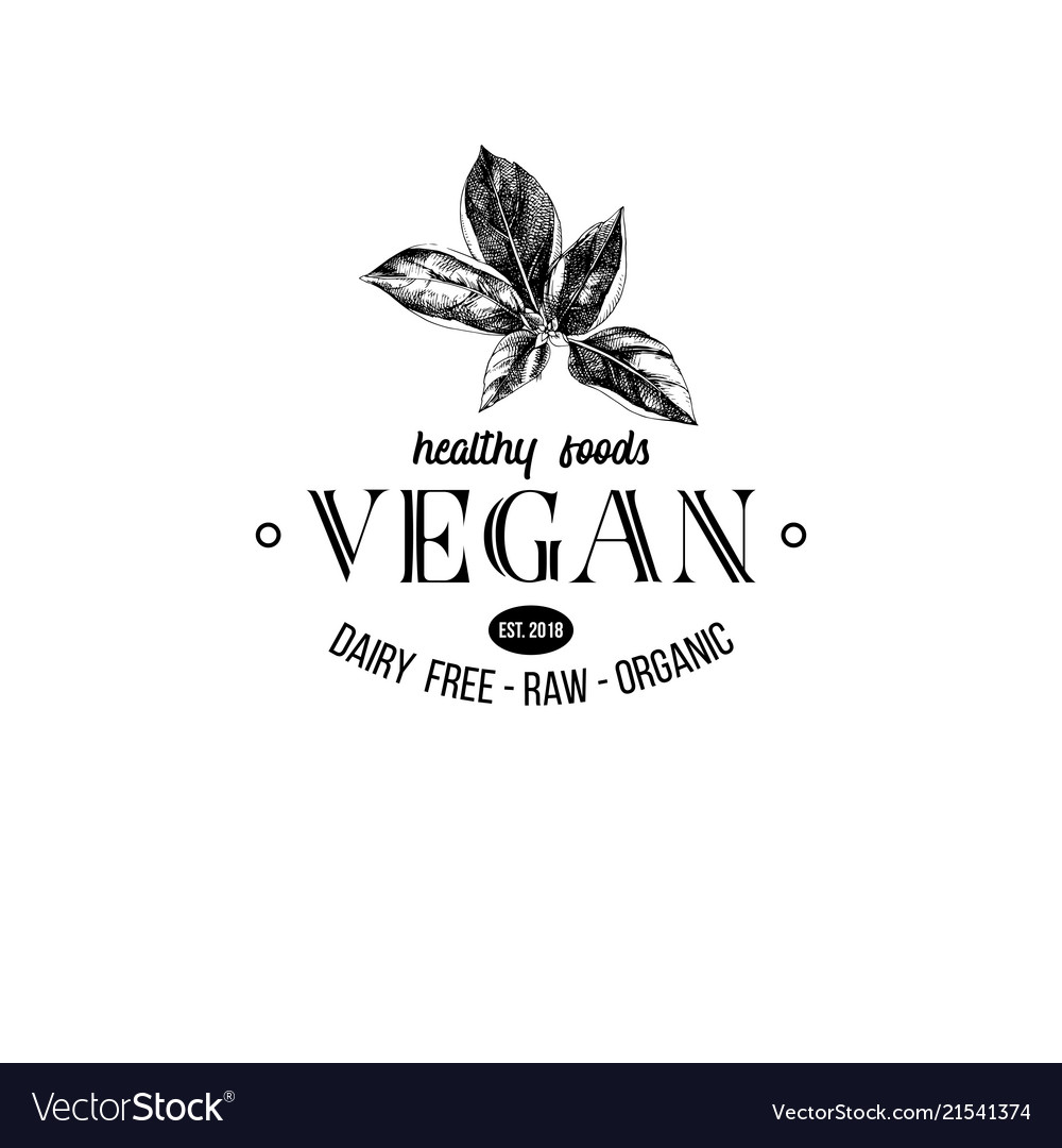 Vegan logo design