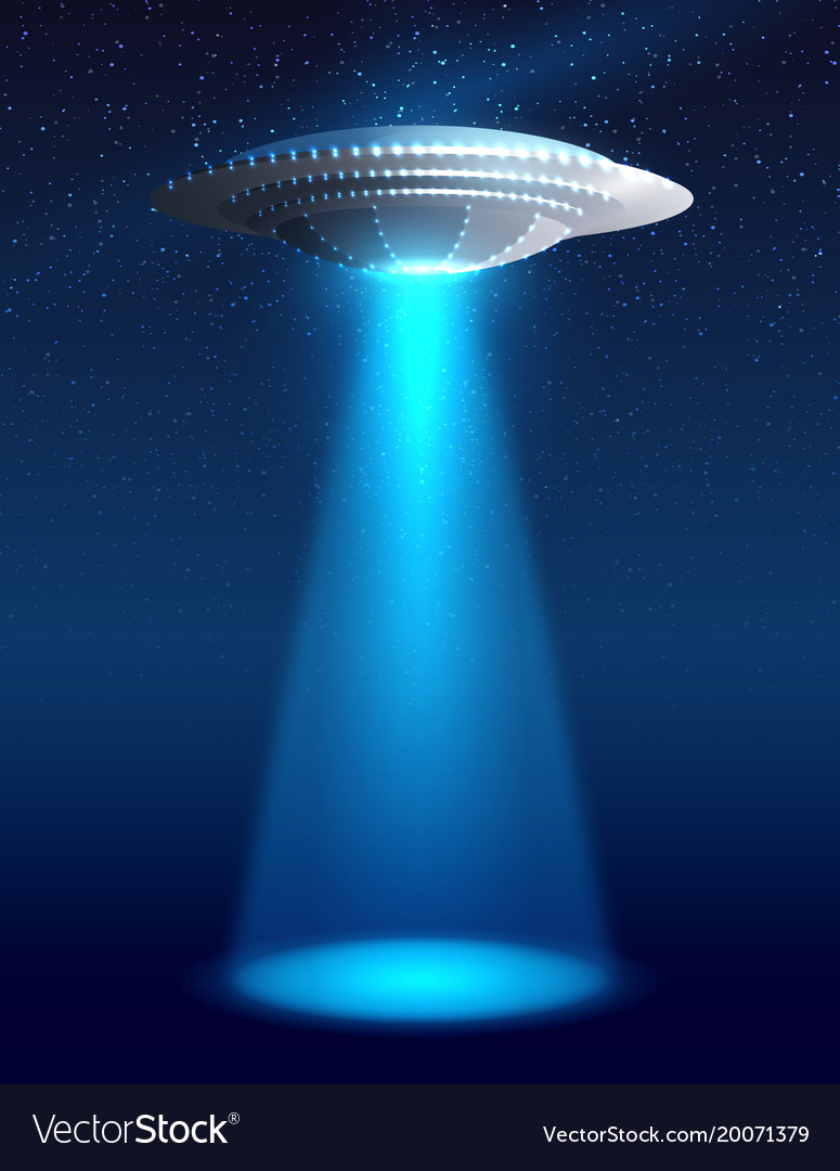 Alien Spaceship Vector Image