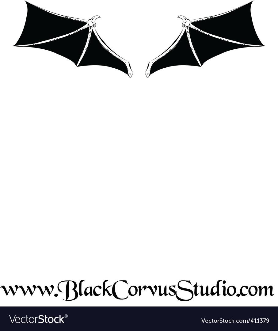 Bat wings vector image