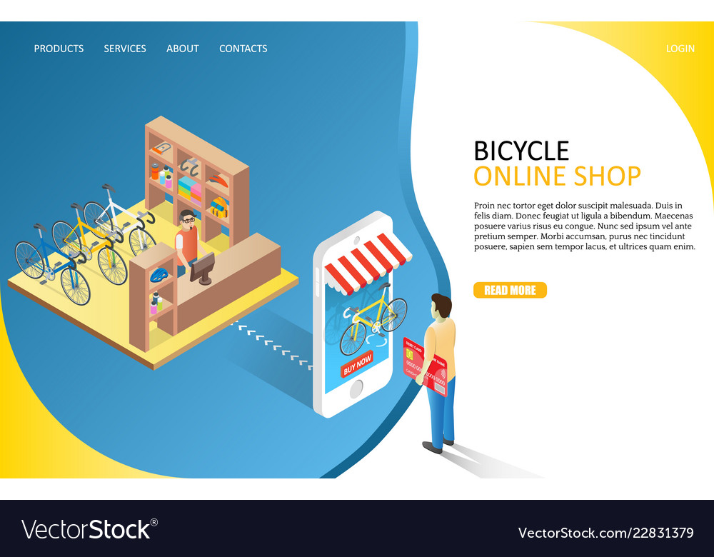 Bicycle online shop landing page website