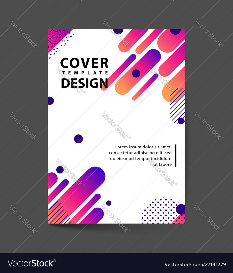 Covers design with geometric rounded lines