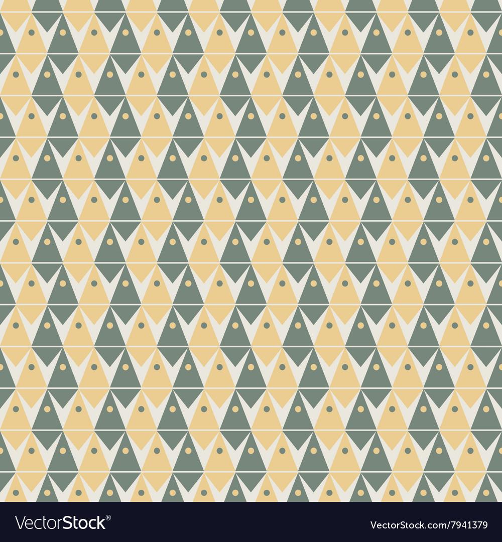 Geometry pattern triangle seamless ornament