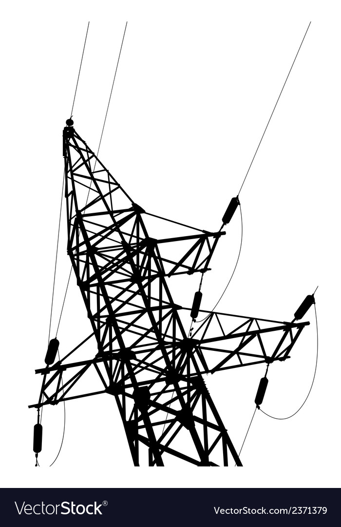 High voltage power lines and pylon