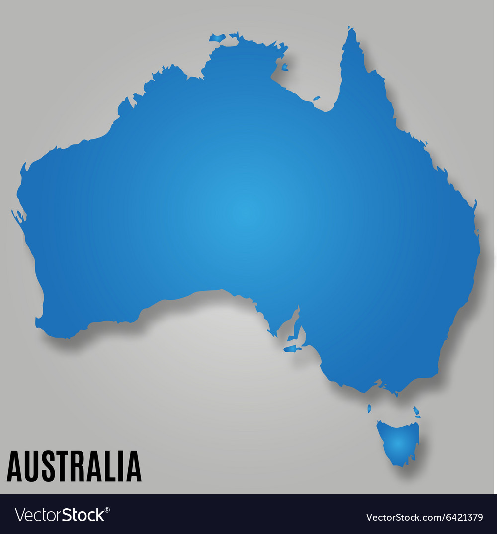 Map of Australia continent country