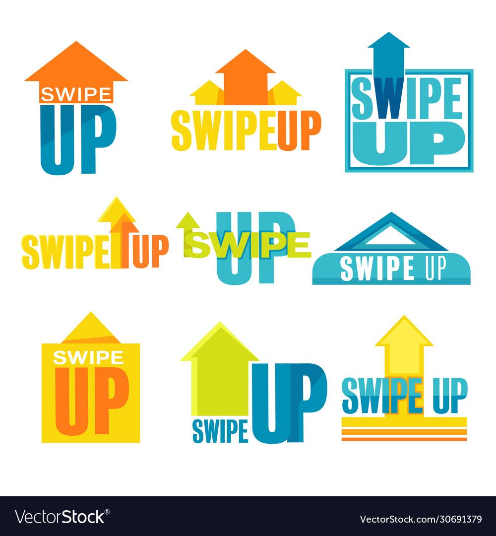 Swipe up banner for social media advertisement set