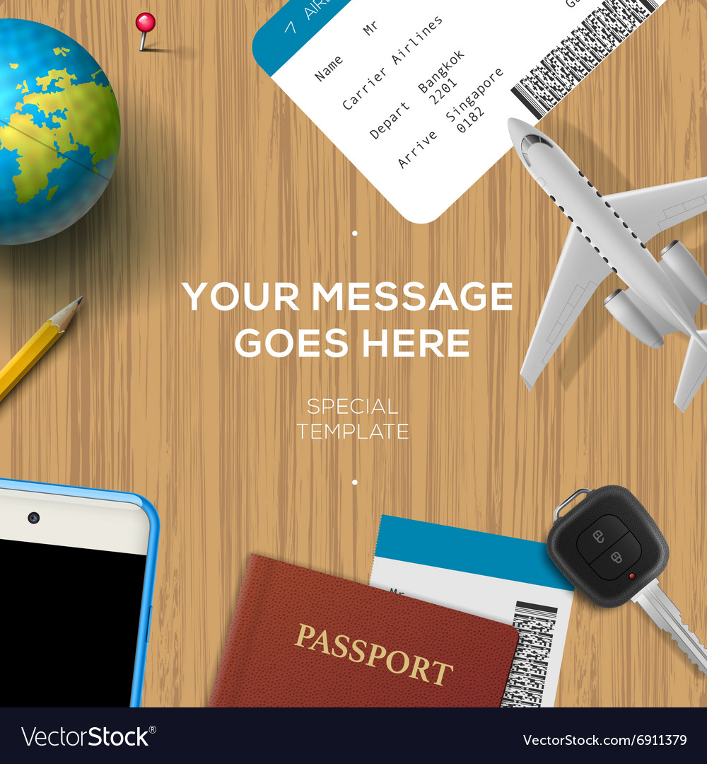 Travelling background travel and vacation concept
