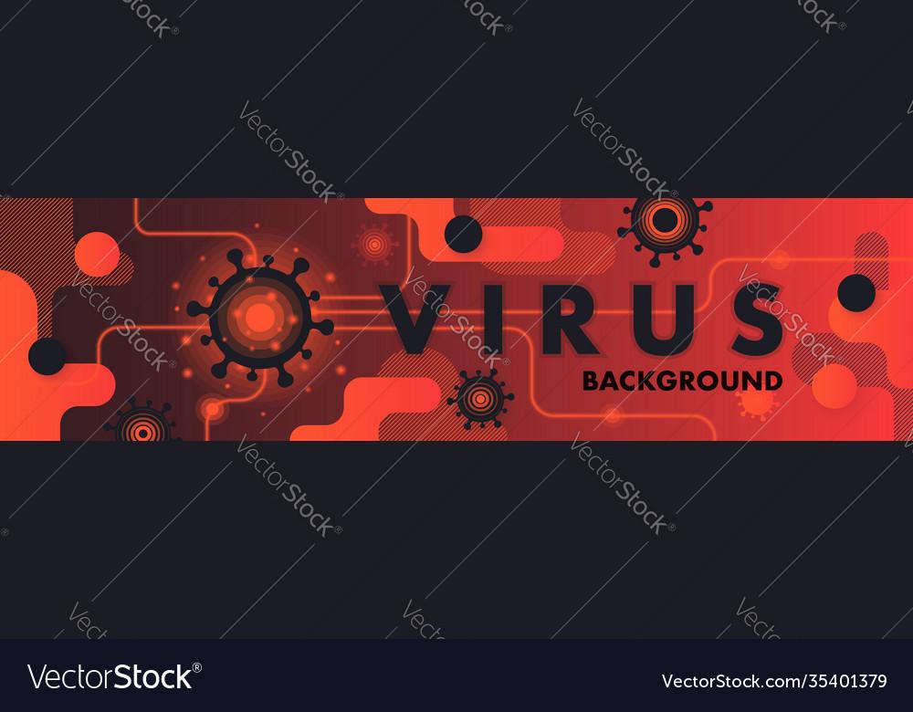 Virus pandemic abstract background coronavirus