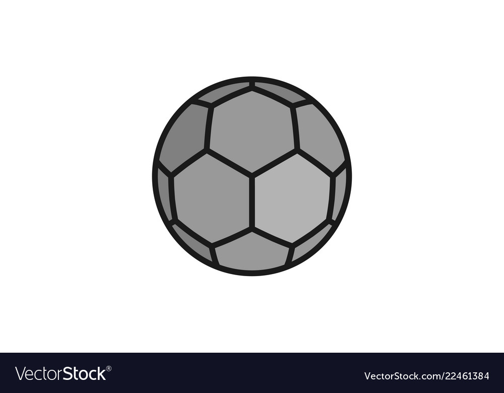ball football logo design inspiration isolated on vector image rh vectorstock com