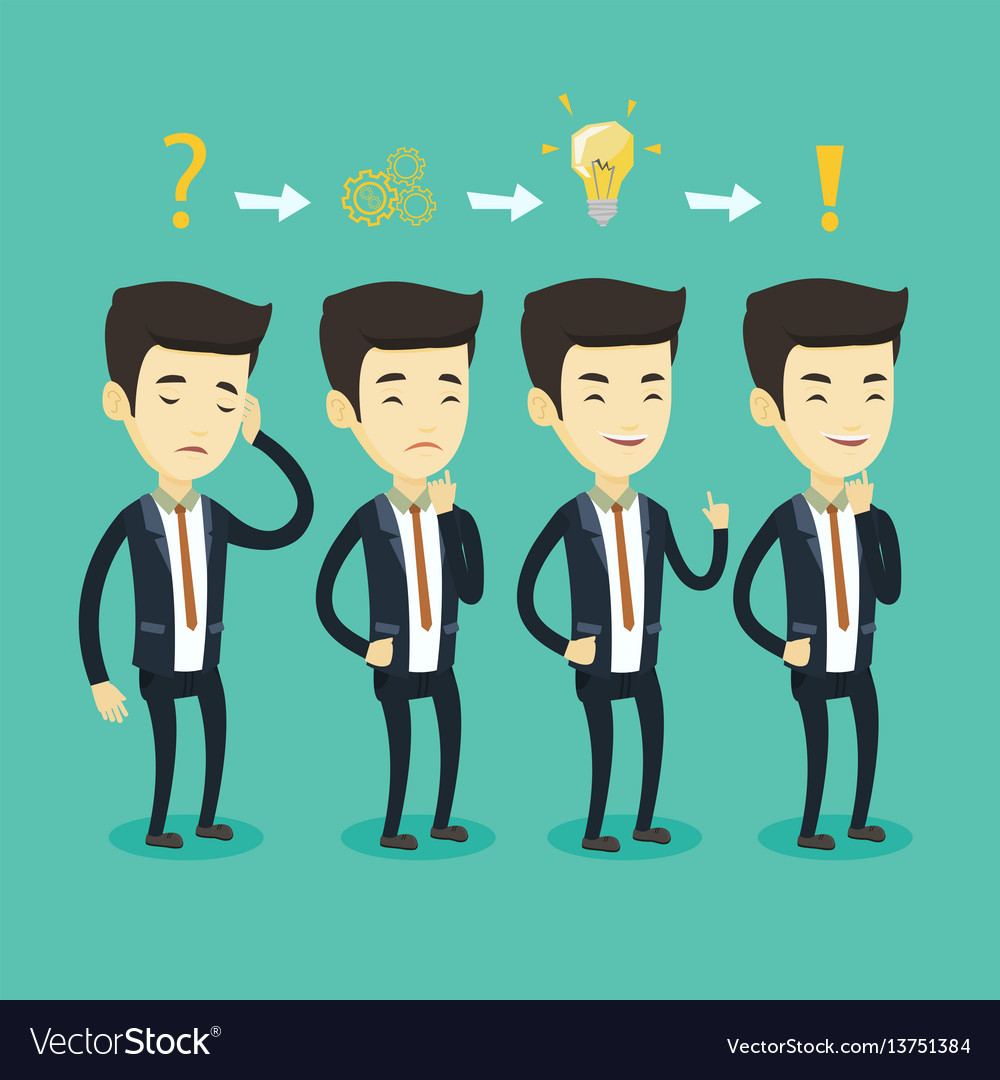 Businessman during business planning