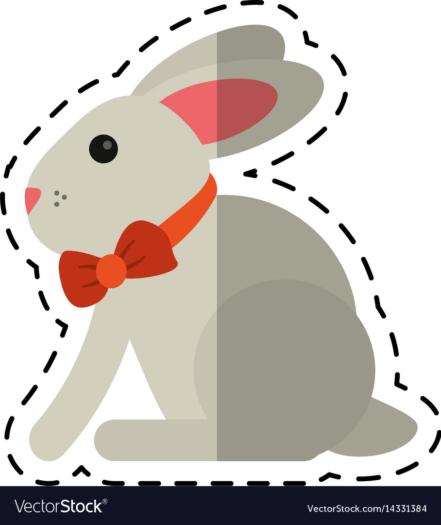 Cartoon Easter Bunny Cute Symbol Royalty Free Vector Image