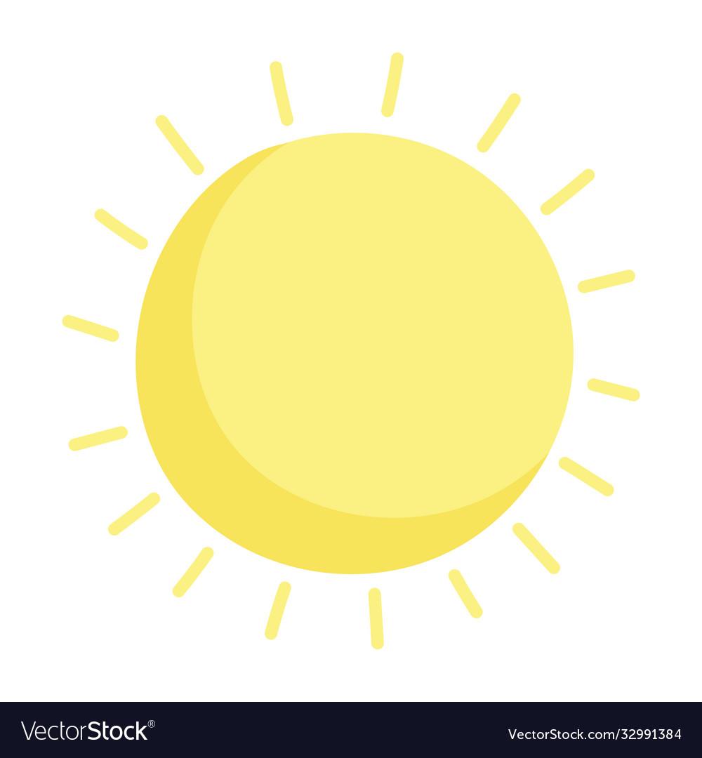 Cartoon sun summer hot weather isolated icon