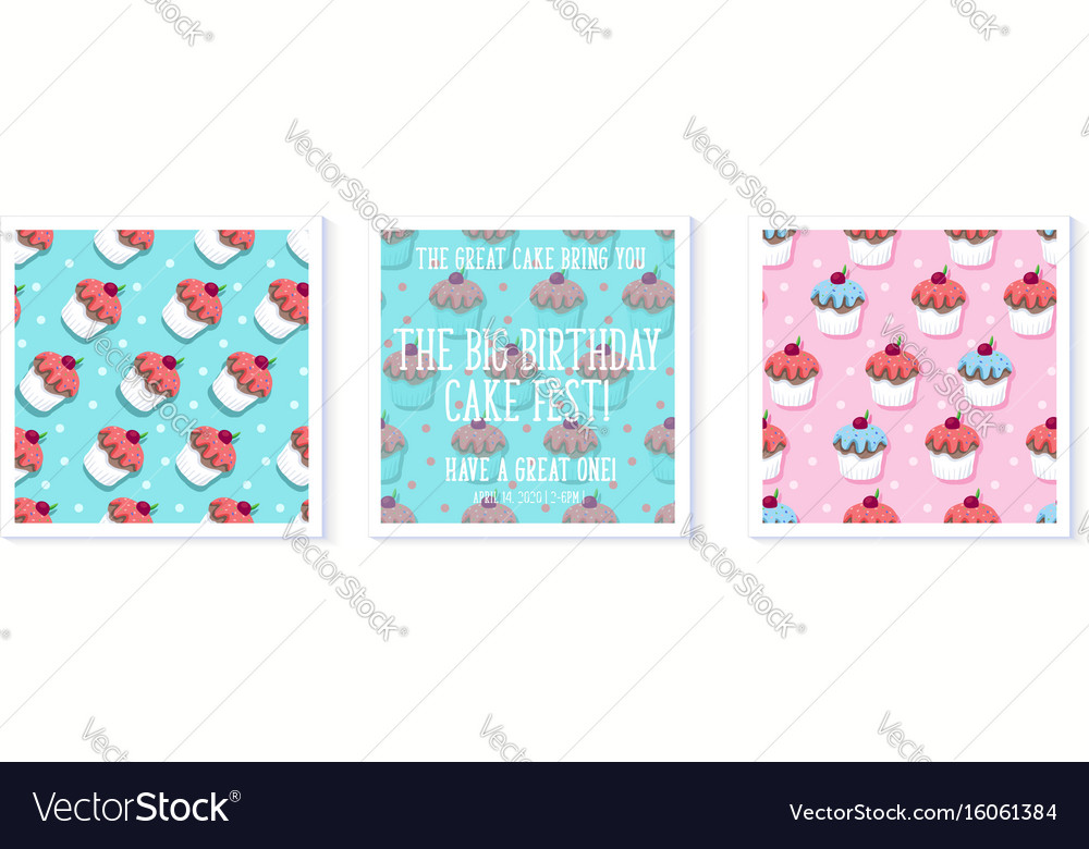 Cupcake Birthday Card Royalty Free Vector Image