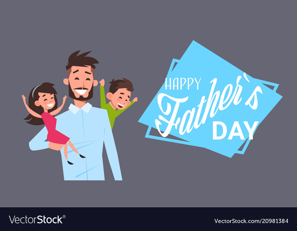 Happy father day family holiday man dad hold