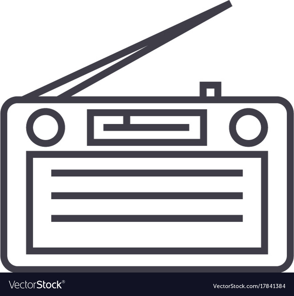 Radioradioreceiver line icon sign
