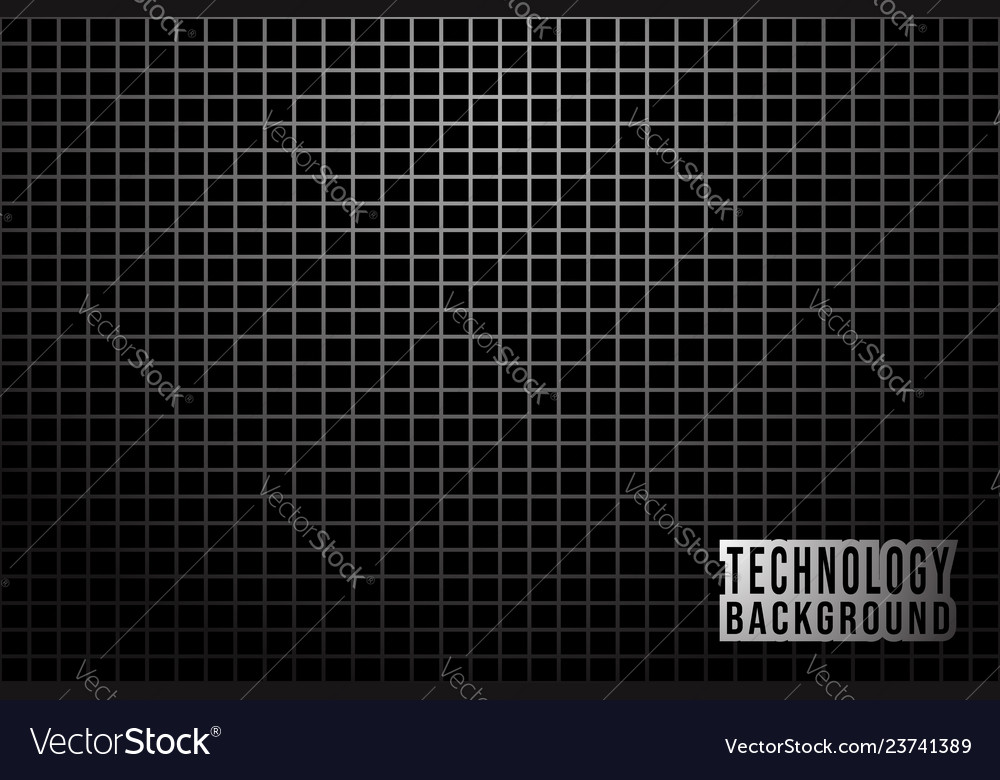 Abstract monochrome background with metallic grid