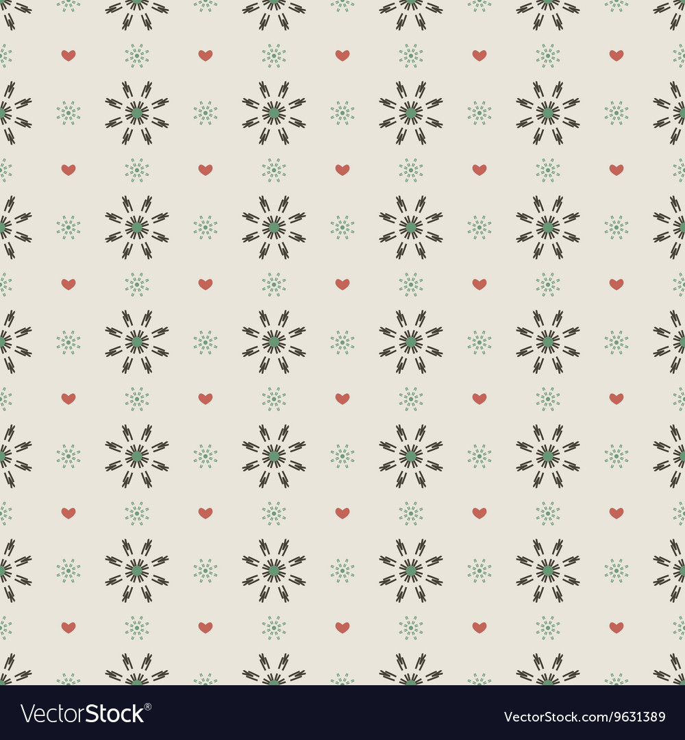 Clean Simple Black Floral Graphic Seamless Pattern