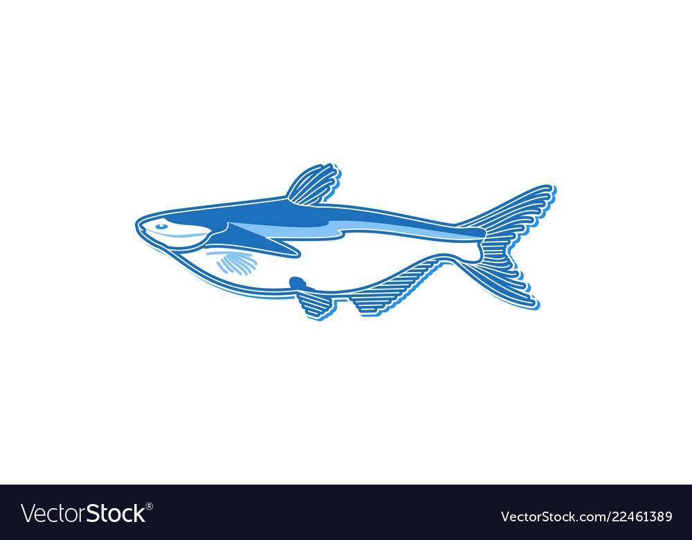 Fish logo design inspiration isolated on white