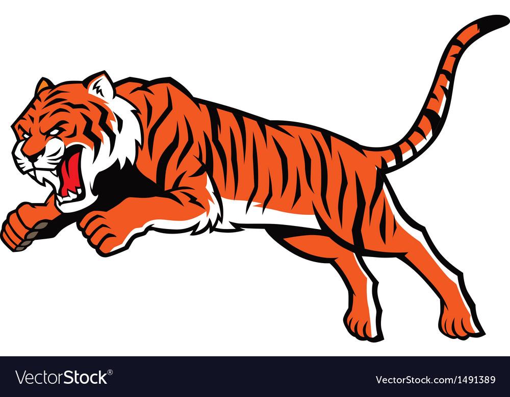 jumping tiger royalty free vector image vectorstock rh vectorstock com tiger stripes vector art tiger stripes vector art