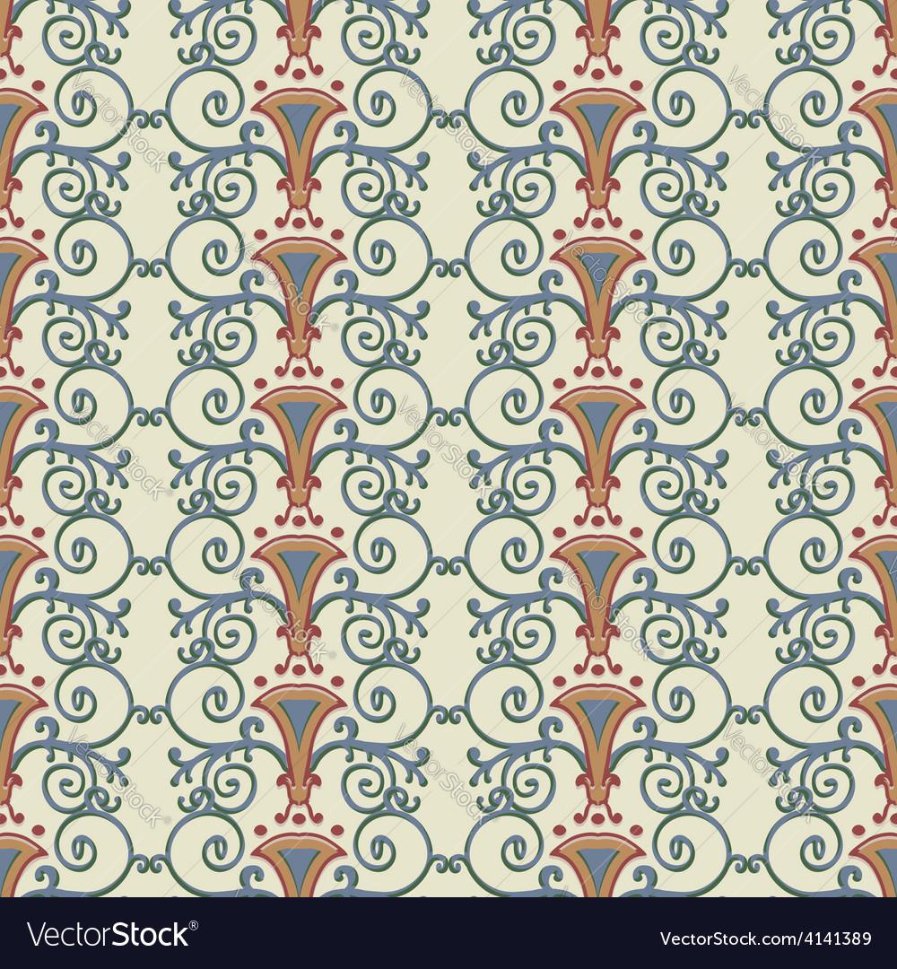 Seamless pattern stylized the ancient Roman