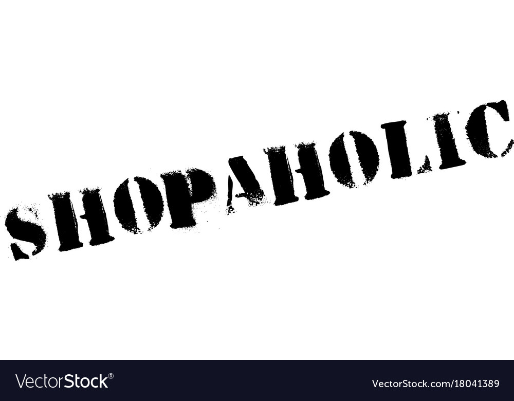 Shopaholic rubber stamp