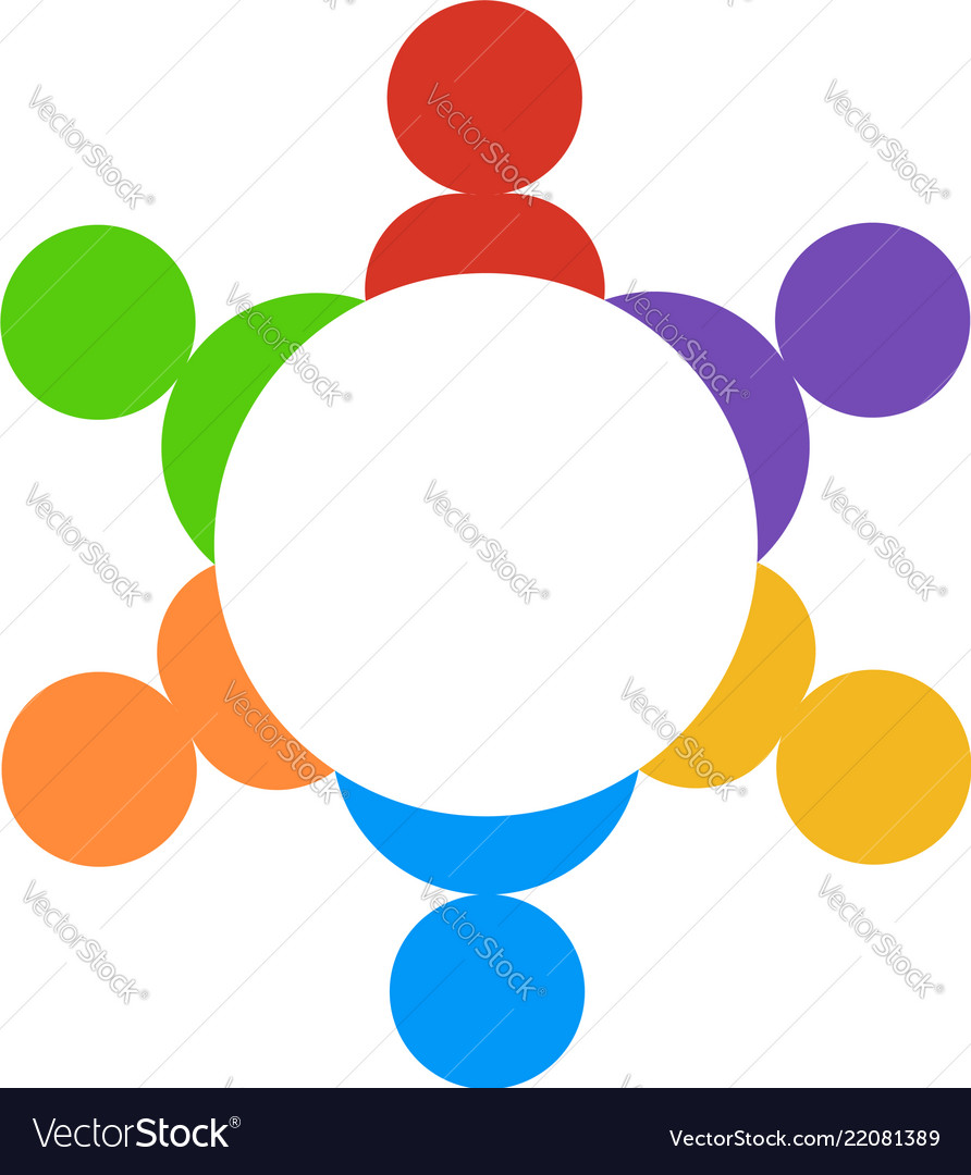 Teamwork group people logo