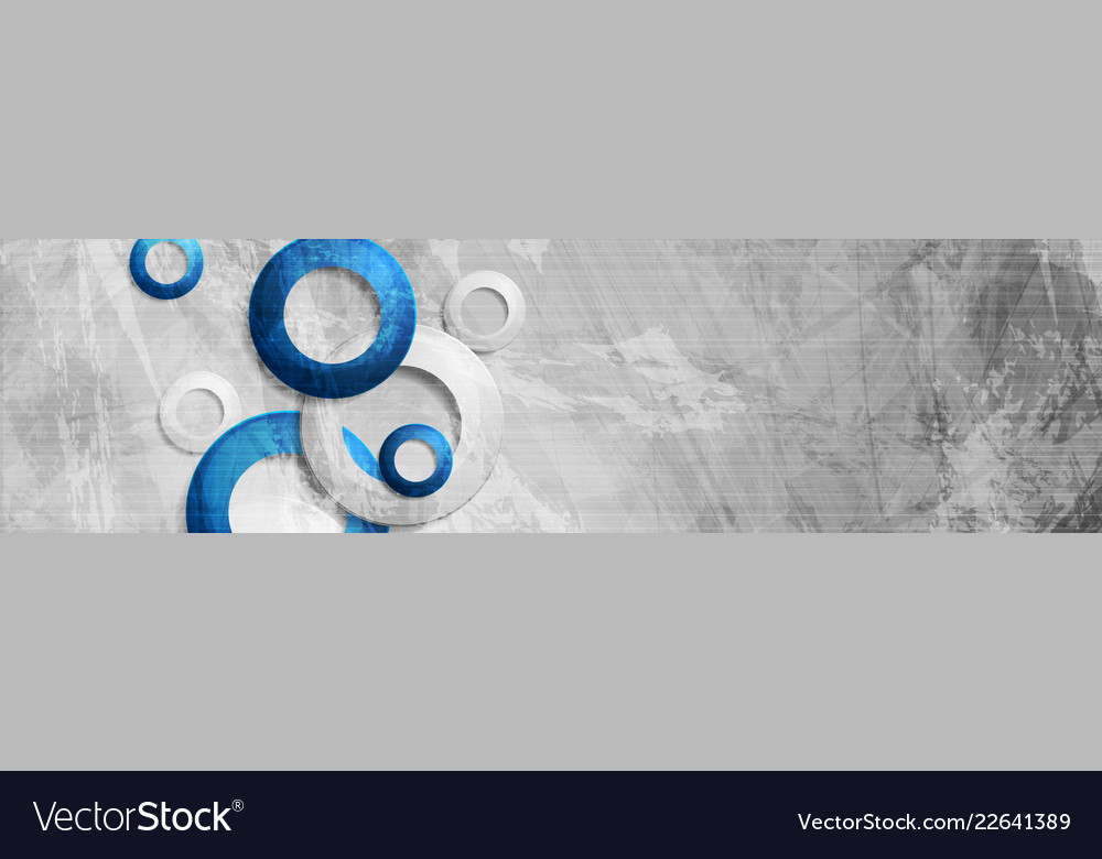 Tech circles on abstract grunge corporate banner