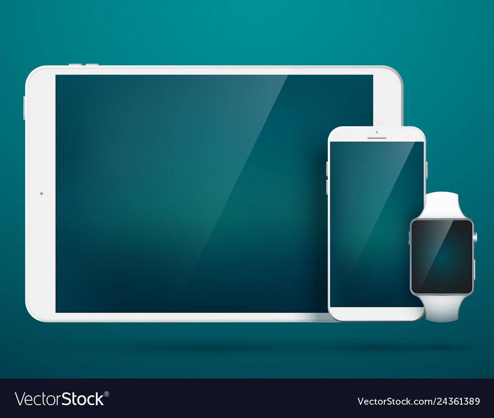 Technology digital gadgets set