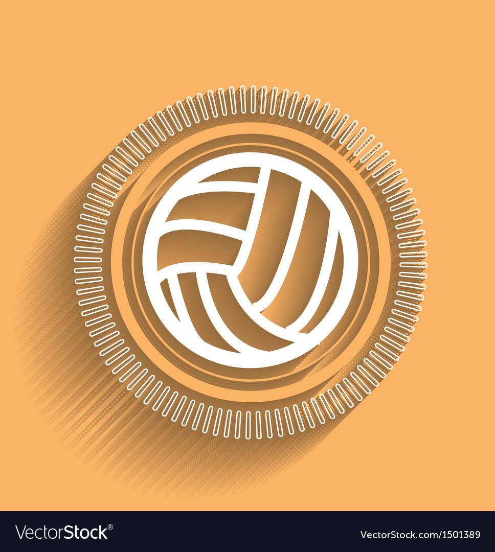 Volleyball icon flat modern design