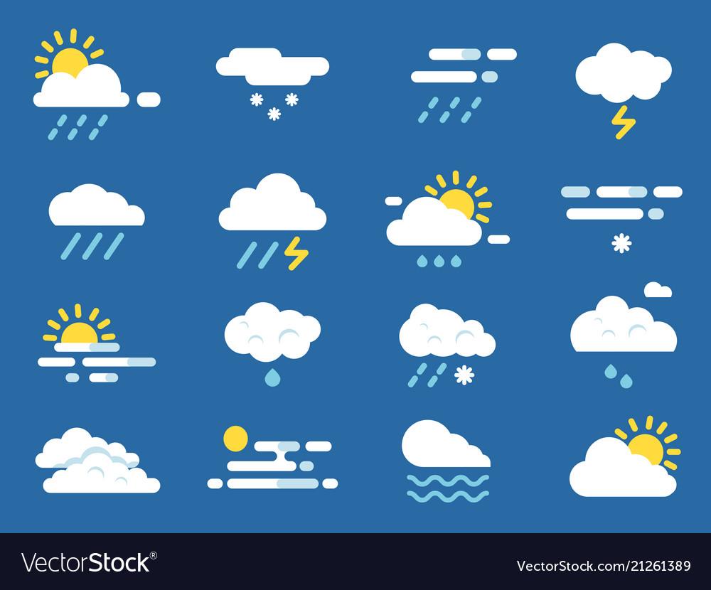 Weather icon set meteo symbols pictures