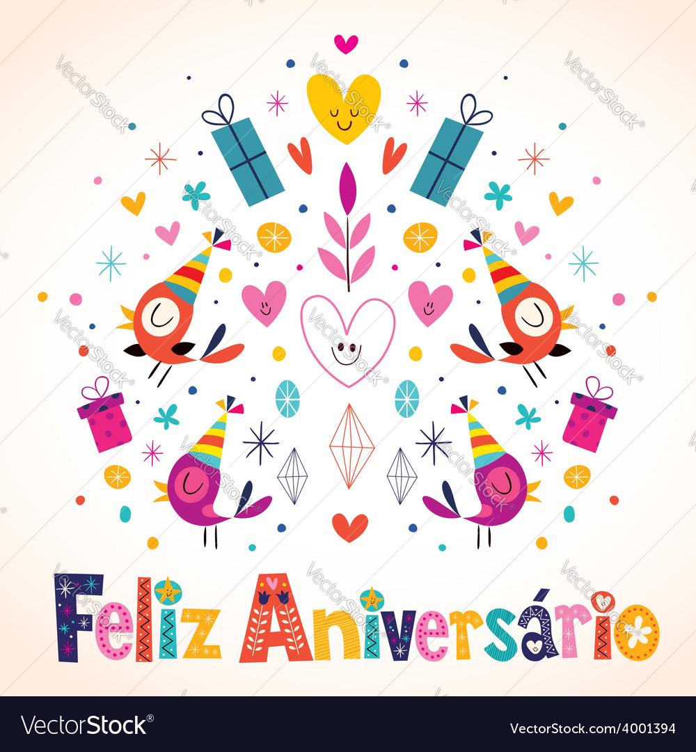 Feliz Aniversario Brazilian Portuguese Happy