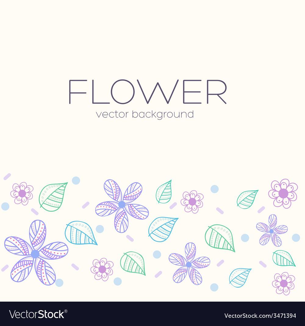 Flower background concept vector image
