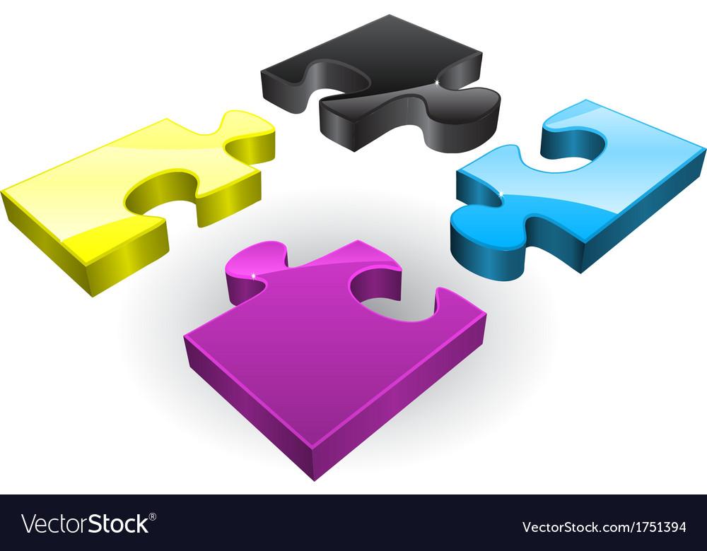 Four CMYK puzzles
