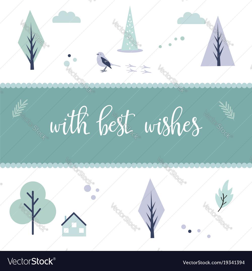 Greeting postcard in scandinavian style