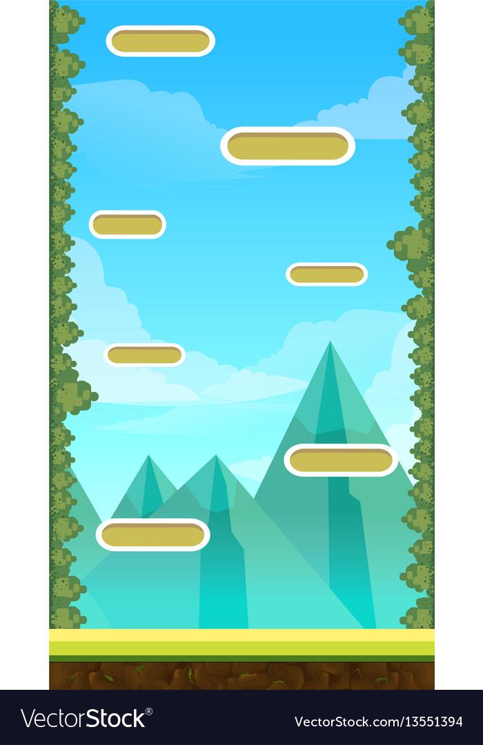 Jump game user interface design for tablet