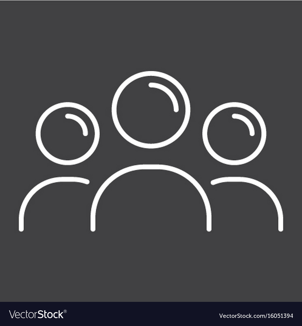 Team line icon business and group vector image