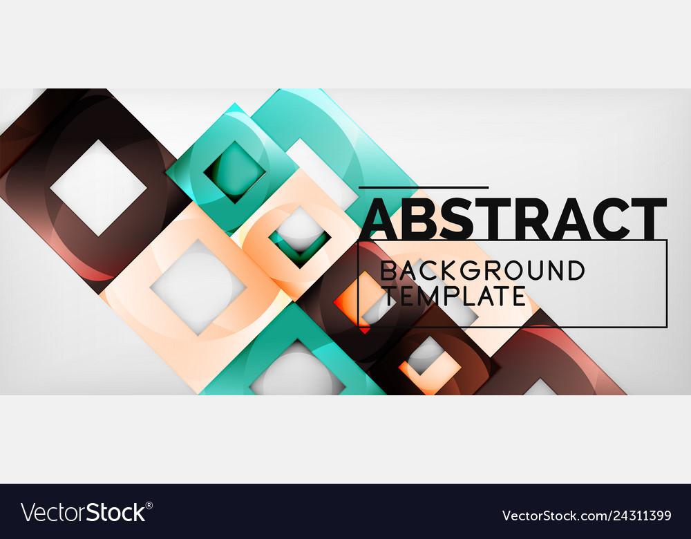 Abstract geometric background glossy square