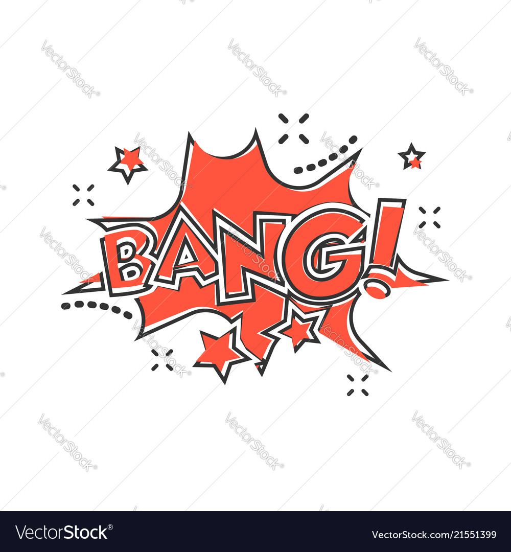 Cartoon bang comic sound effects icon in comic
