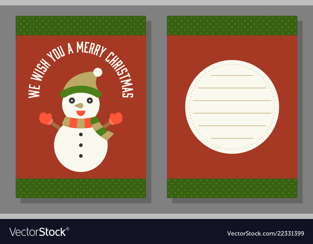 Christmas Greeting Or Invitation Card Template