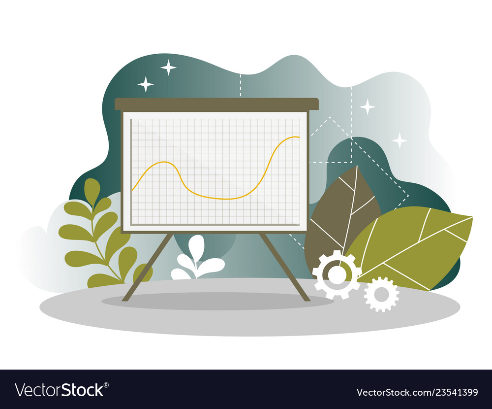Digital marketing analysis report chart landing