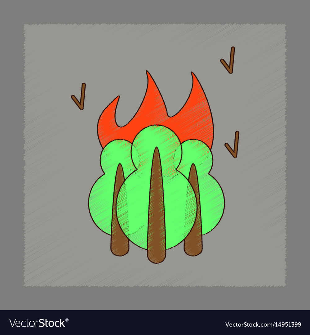 start fire camp icon flat style