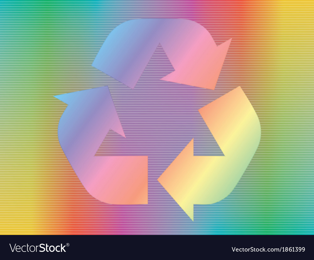 Hologram with recycle icon