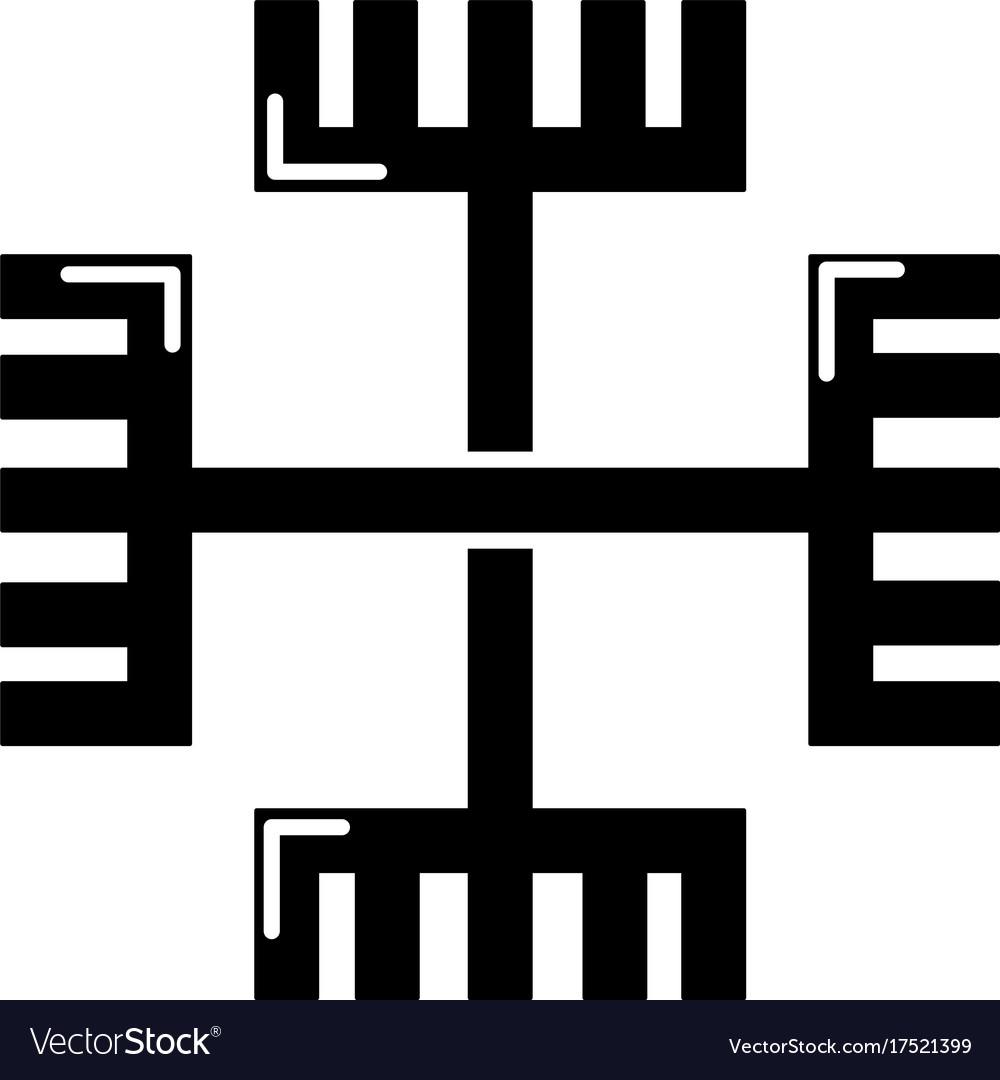 Pagan ancient symbol icon simple style